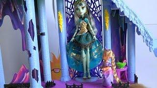 Видео с игрушками у Рапунцель появилась подруга Френкинштейн кукла Монстер Хай
