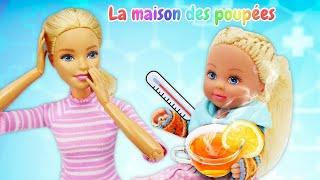 La promenade dangereuse d'Evi. Vidéo en français avec la poupée Barbie.