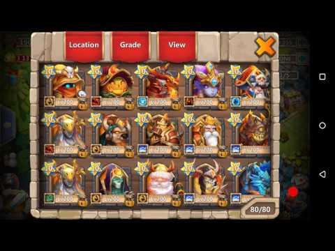 Castle Clash Boss 5 Slowdown Trials, Heroes