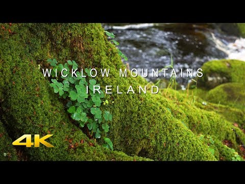 4K Relaxing Ireland | Wicklow Mountains - Ultra HD Nature Video - Water Stream/ Mountains - Sleep