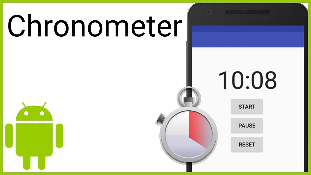 Chronometer / Stopwatch with Start, Pause, Resume, Reset - Android Studio  Tutorial