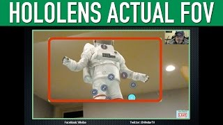 HoloLens Actual Field of View Captured FOV. During a recent live st...