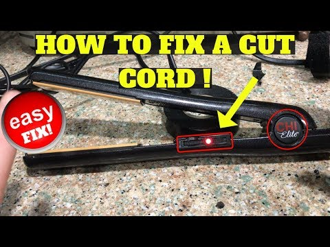 How To Fix A Cut Cord On A Hair Straightener (EASY)