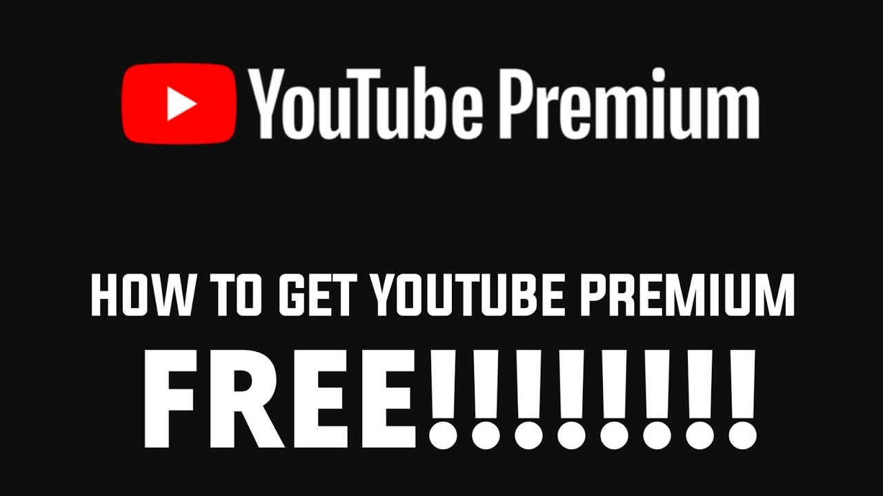 How To Get Youtube Premium For Free Youtube Red Youtube