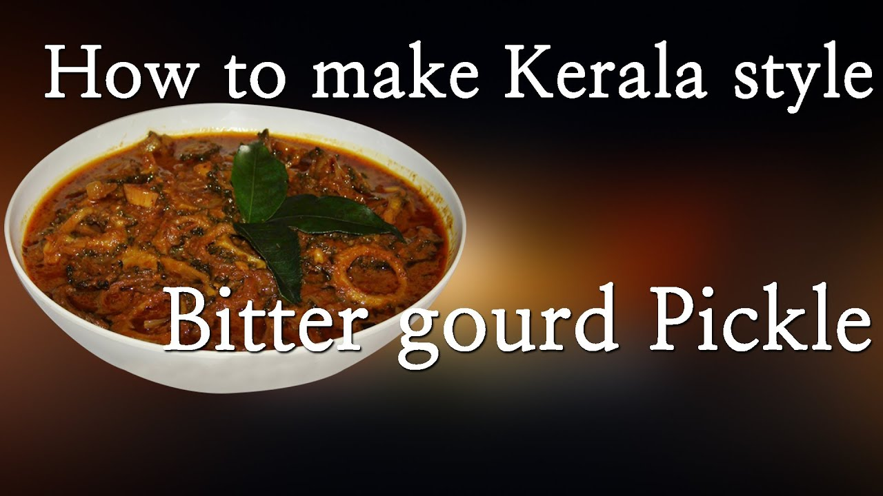 how to eat bitter gourd pickle