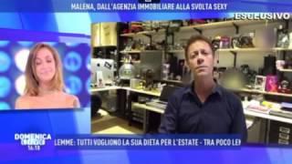 Rocco Siffredi a Domenica Live: videosorpresa per la sua musa Malena