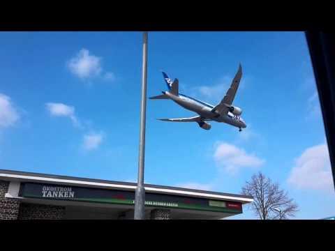 Flughafen Düsseldorf - Landeanflug Boeing 787-8 [ All Nippon Airways NH209]