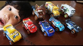 NEW Disney Cars XRS Barry Depedal Lightning McQueen Cal Weathers Mud Racing Series Diecast