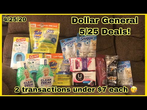 Dollar General 5/25 Deals | 2 Transactions Under $7 🥳 $1 Per Item 🎉