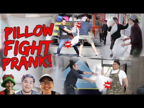 Pillow Fight Prank | Philippines (Pranking Lloyd Cafe Cadena, Gloco & Senpai Kazu)
