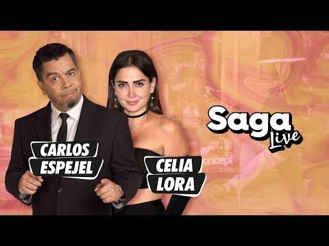 Celia Lora y Carlos Espejel con Adela Micha