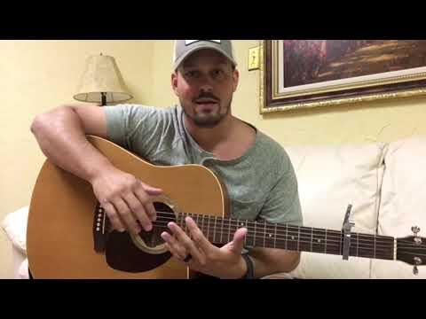 KANE BROWN: WHAT IFS banjo intro on guitar.