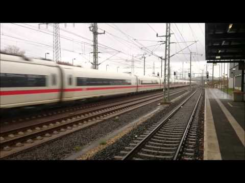ICE 3 300 KM/H German High Speed Limburg Süd
