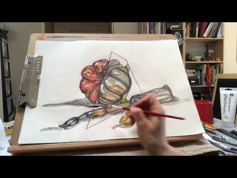 Download STILL LIFE AND WATERCOLOUR PENCILS - Lesson for kids from 9 years old and for grown up