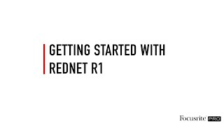Monitor Outputs // RedNet R1