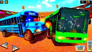 US Police Bus Demolition: Derby Crash Stunts 2021 - Best Android Gameplay screenshot 3