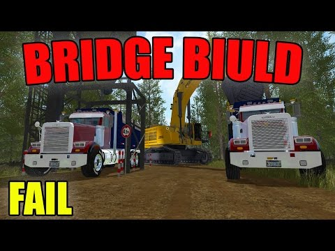 HOW NOT TO: BUILD A BRIDGE IN FARMING SIMULATOR