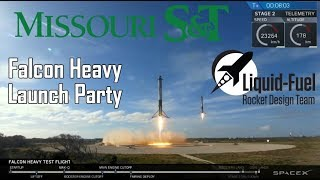Missouri S&T - Falcon Heavy Launch party and Live Reactions!