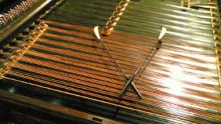 Prepared piano to imitate cimbalom