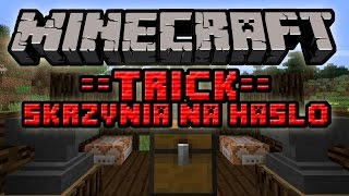 Minecraft Trick #013 - Zablokuj Skrzynie na Dowolne Hasło! Bez Modów na 1.8!