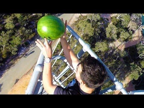 Watermelon Survives 45m Drop Test!!