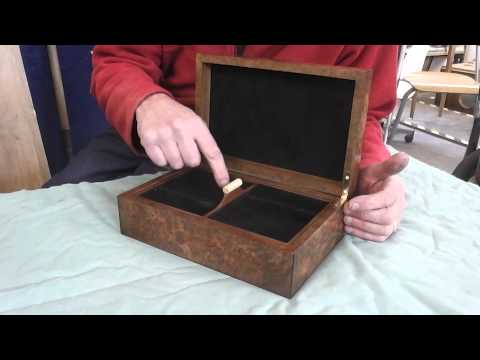 Burr Walnut Jewellery Box