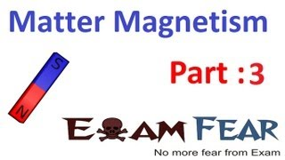Physics Matter & Magnetism part 3 (Magnetic field lines) CBSE class 12