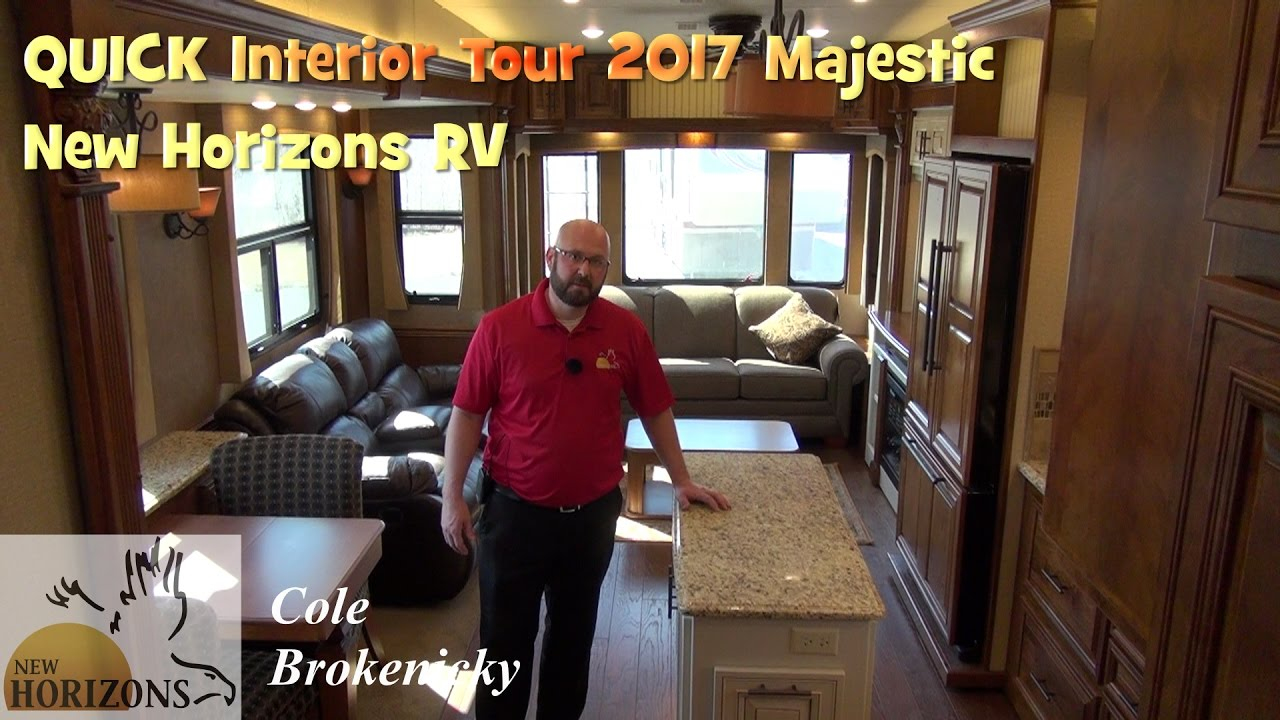 QUICK Interior Tour And Overview Of The 2017 Majestic By New Horizons RV