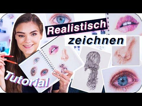 REALISTISCH ZEICHNEN - Tutorial für Anfänger // Tipps für Augen, Haare, Lippen & Wimpern // I'mJette