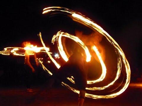 Best of Fire Dancing on a Beach: Arabian Sea, India