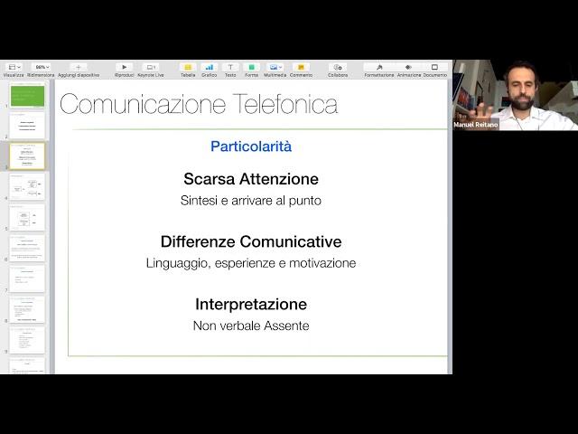 Telefono ed email: comunicare con il cliente in maniera efficace (Manuel Reitano)