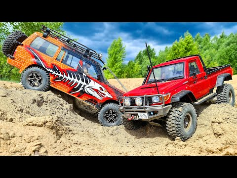 Mercedes and Toyota Land Cruiser Sand Racing 4x4
