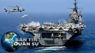 Tin Quân Sự - Tàu Sân Bay Mỹ Bị 20 Tàu Iran 'Quấy Rối'