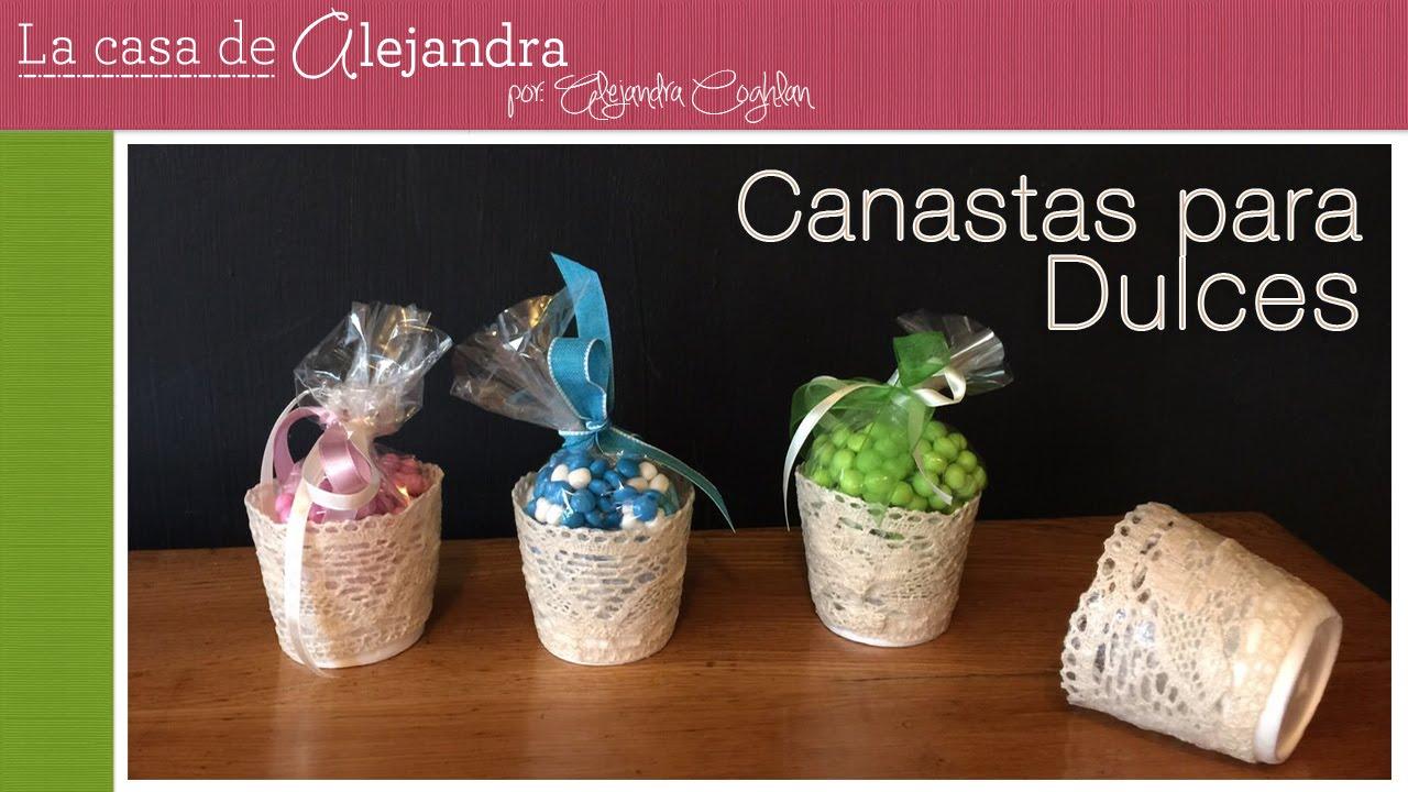 F ciles y lindas canastas para dulces diy alejandra coghlan youtube - Cosas para preparar una boda ...