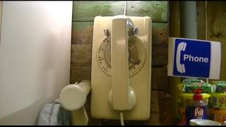 VINTAGE Northern Telecom Rotary Dial Wall Telephone