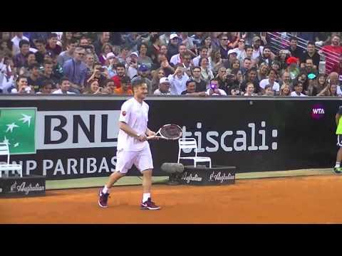 Doppio di tennis: Totti e Kyrgios contro De Rossi e Schiavone al Foro Italico