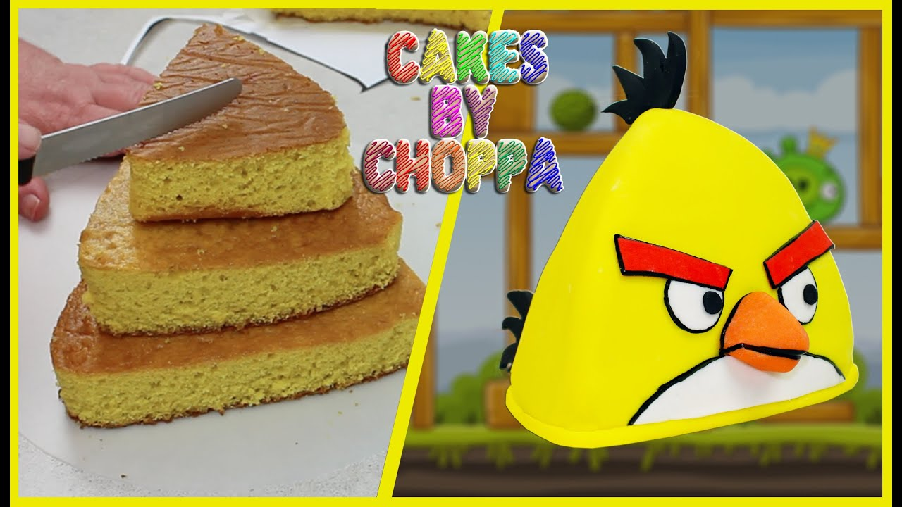 Yellow Angry Bird Cake Quot Chuck Quot How To Youtube