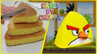 "Yellow Angry Bird Cake ""chuck"" 