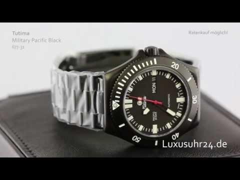 Tutima Military Pacific Black 677-31 Luxusuhr24 Ratenkauf ab 20 Euro/Monat