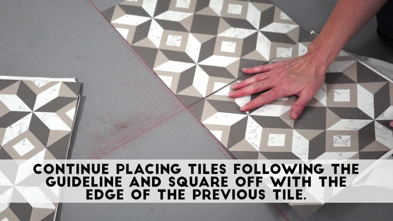 Retro Vinyl Tiles Installation You