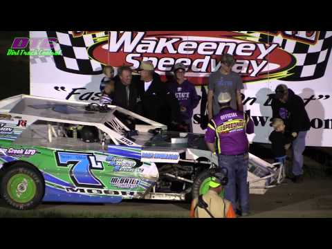Last few Laps IMCA Modified A Feature Wakeeney Speedway 5-25-15