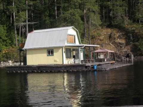 powell lake float home - youtube
