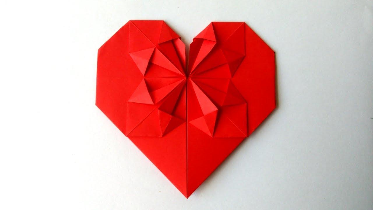 Corazon De Papel Origami Origami Heart Youtube - Origami-corazn