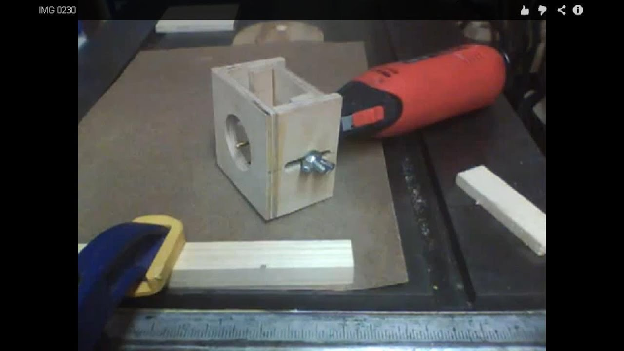 Make a rotary tool router base youtube for Diy dremel router table