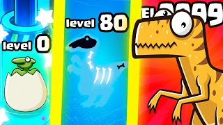 IS THIS THE STRONGEST HIGHEST LEVEL DINO EVOLUTION? (9999+ LEVEL EXPENSIVE) l Crazy Dino Park Game