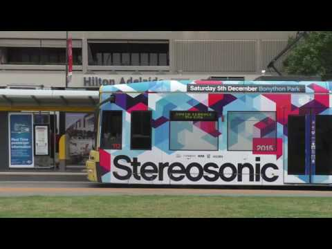 Adelaide Metro Trams Victoria Square November 2015