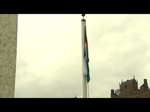 Palestinian flag flies at U.N. for first time