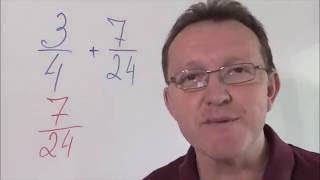 Приведение  дробей к общему знаменателю Математика 6 класс
