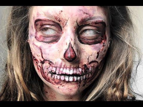 Scarred Skull Part 2 Halloween Makeup Tutorial thumbnail
