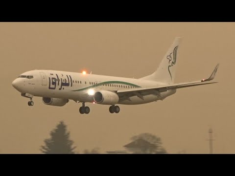 Buraq Air Boeing 737-800WL landing & takeoff at Geneva/GVA/LSGG